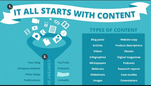 You have several types of content to choose from while creating a WordPress website.